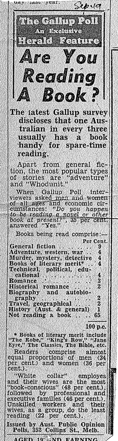 What we were reading in 1949