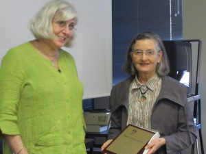 Fay Tran receives the 2011 Bruce Wicking Award for her contribution to the field of children's learning difficulties
