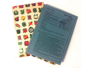 Recipe card and seeds