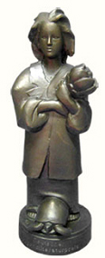 AS well as some cash, winners of the Deutscher Literaturepreis receive a 'Momo', a 30 cm-high bronze statue, based on the eponymous character of Michael Ende's 1973 novel, 'Momo'.
